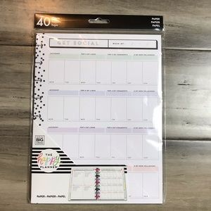 The Happy Planner Social Media Tracker Paper
